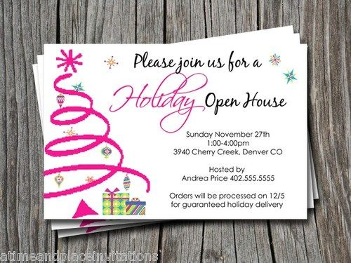 Christmas Openhouse Inviation Ideas | Party Invitations Ideas