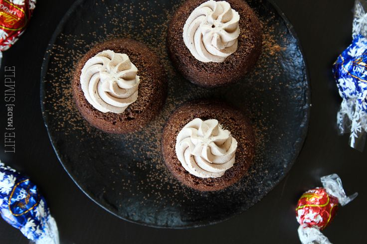 Easy Molten Chocolate Cupcakes - Something Swanky