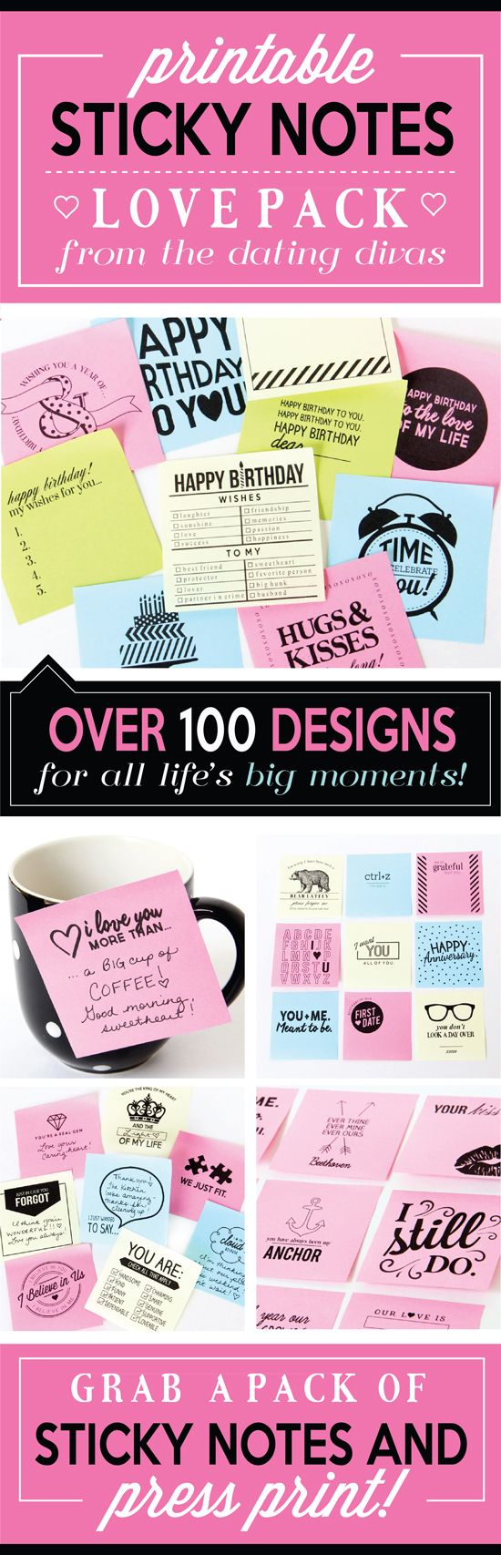 I LOVE these Sticky Notes! Can't wait to surprise my hubby on his birthday with these love notes! www.TheDatingDivas.com