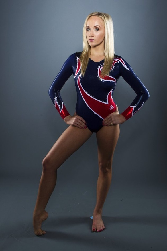 Gymnast senior picture pose.