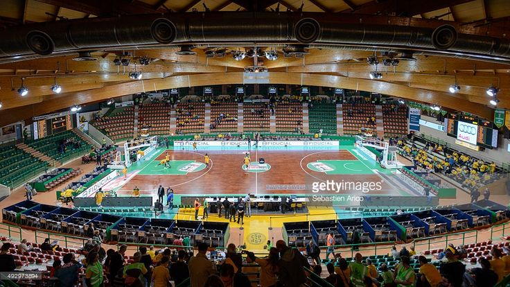 Panoramic view of empty arena before the Turkish Airlines Euroleague Basketball Regular Season Date 1 game Limoges CSP v Anadolu Efes Istanbul at Beaublanc on October 16, 2015 in Limoges, France.
