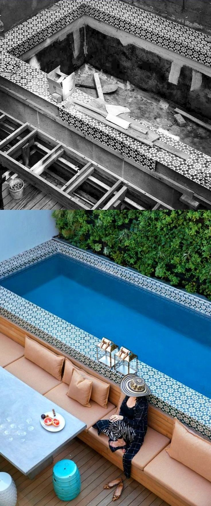 Before And After Cape Town Plunge Pool Backyard Pool Swimming