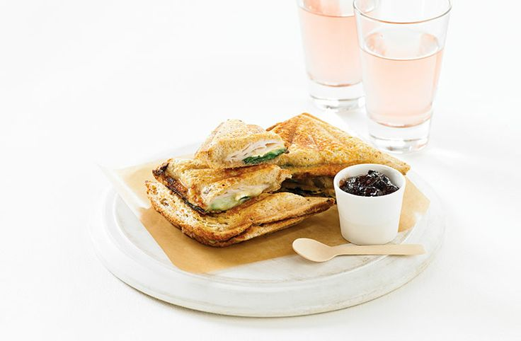 Turkey, Brie and Cranberry Jaffle - Food Thinkers by Breville (I'd use Fromage D'Affinois.)
