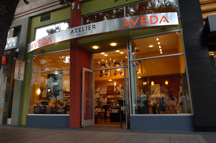 Our beautiful Atelier Salonspa storefront--with a 90-year California Heritage Oak out front.  It's the Aveda tree!