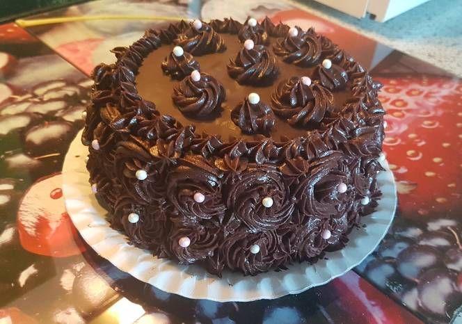 Rumos-csokis-mascarponés torta
