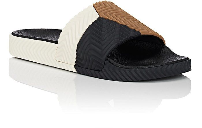 44707720ff65a4 adidas Originals by Alexander Wang Men s Adilette Rubber Slide Sandals