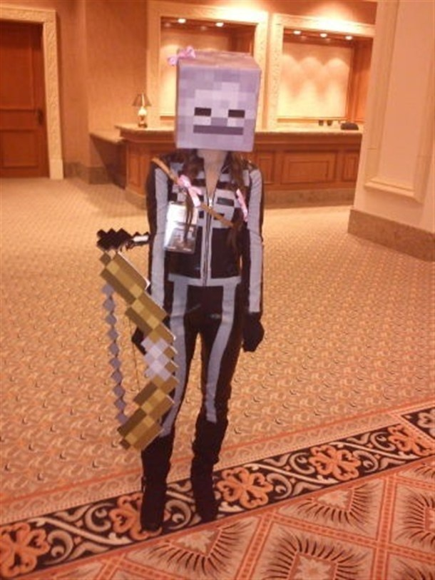 Minecraft skeleton costume- my son want's to be this for Halloween.