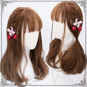 Jooyi Fashion Lolita Blonde Straight Wigs Cosplay /Party Costume Wig for Women Natural As Real Hair+A Free Wig CAP