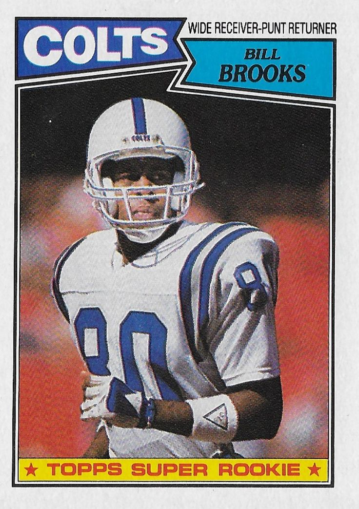 1987 Topps Bill Brooks 378 Indianapolis Colts in 2020