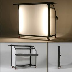"""Blast Bar ~ a portable bar that folds down to 5"""" thick... weighs 75 pounds, aluminum frame, water/weatherproof"""