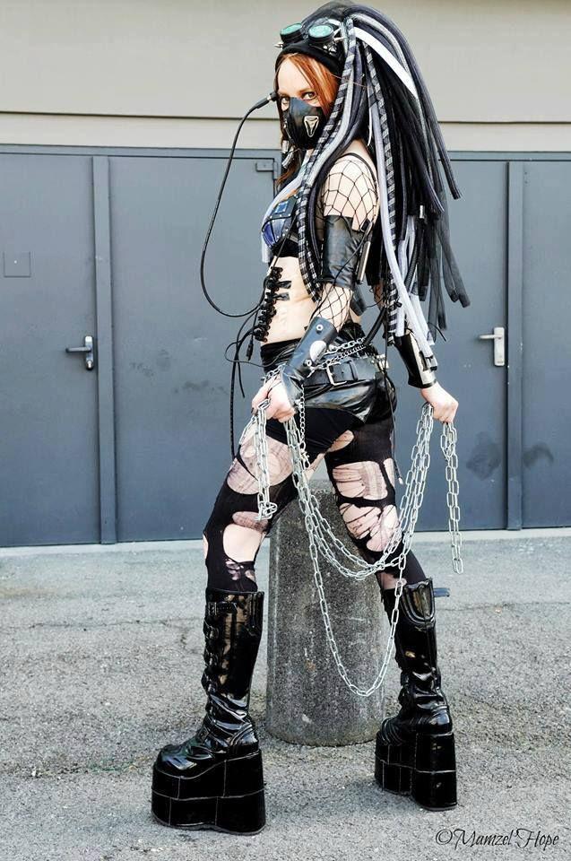 Cyberpunk goth. Ooooo yeah!