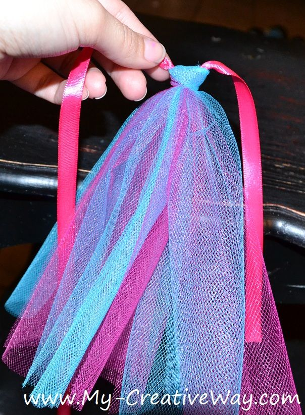 how to make a baby basket with tulle