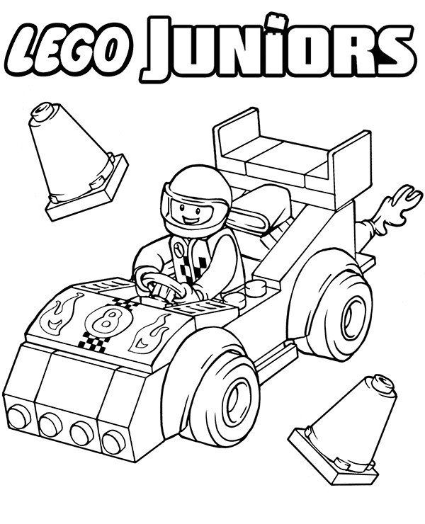 Lego Racers Coloring Pages Background