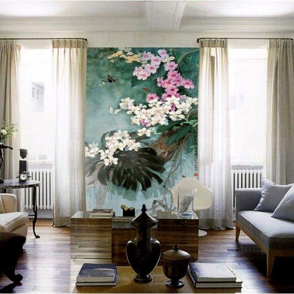 les 88 meilleures images du tableau papier peint asiatique sur pinterest peintures asiatiques. Black Bedroom Furniture Sets. Home Design Ideas