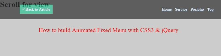 Animated Fixed Menu with CSS3 & jQuery - http://jqueryplugins.net/animated-fixed-menu-with-css3-jquery/ #Animated, #CSS3, #Fixed, #JQuery, #Menu
