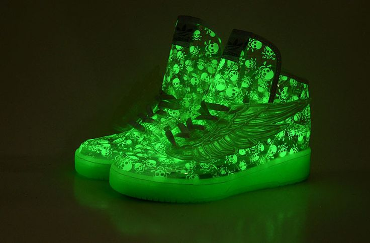 2013 Adidas Jeremy Scott JS Wings 2.0 Luminous Skull