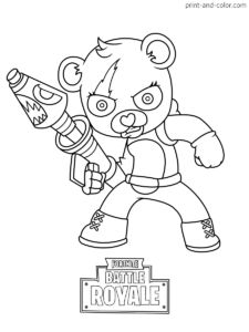 Fortnite coloring pages Print and in 2019