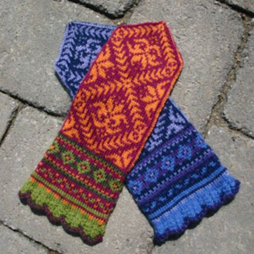 Amaryllis mittens by KidsKnits.  Pattern available to buy from Ravelry.