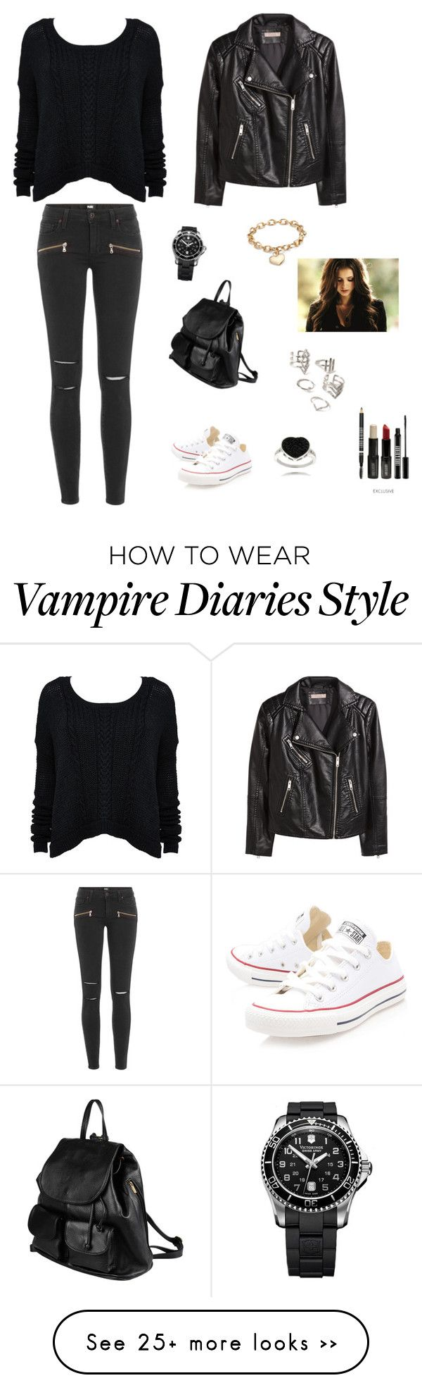 """School ❤"" by francyrizzo on Polyvore featuring H&M, Paige Denim, Converse, Blue Nile, PARENTESI, Forever 21, Lord & Berry and Finesque"