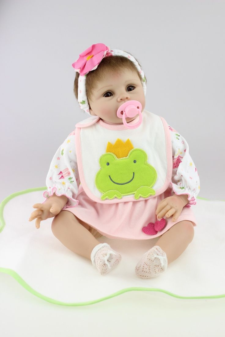 "93.49$  Watch here - http://aliqsb.worldwells.pw/go.php?t=32377722674 - ""22"""" New arrival cheap price rooted hair Handmade Silicone adora Lifelike sexy Baby Bonecas Bebe Reborn doll for kids Child Gift"""