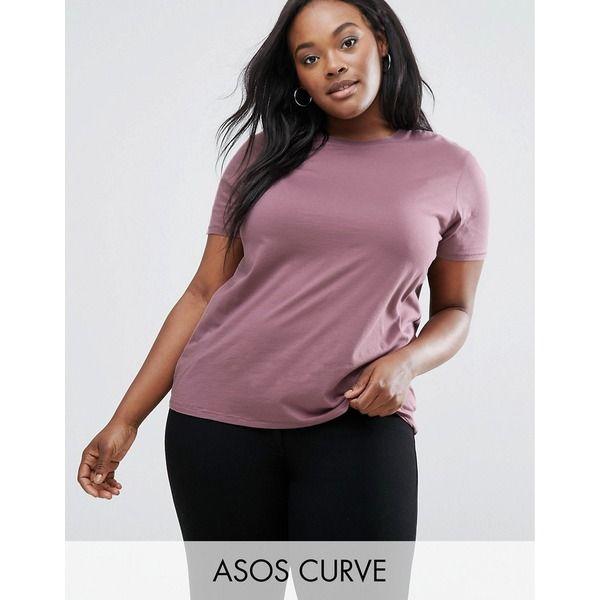 ASOS CURVE - T-Shirt mit Rundhalsausschnitt - Rot