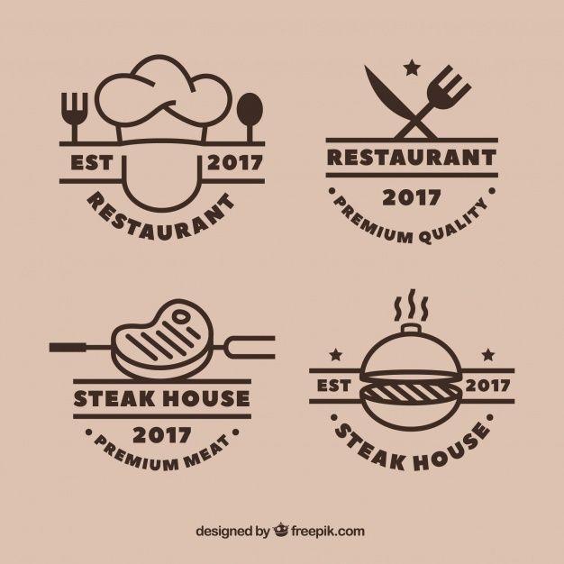Cool Set Of Grill Restaurant Logos Logo Restaurant Restaurant Logo Design Food Logo Design Inspiration