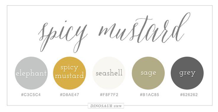 Spicy Mustard Yellow Color Palette - Dinosaur Stew