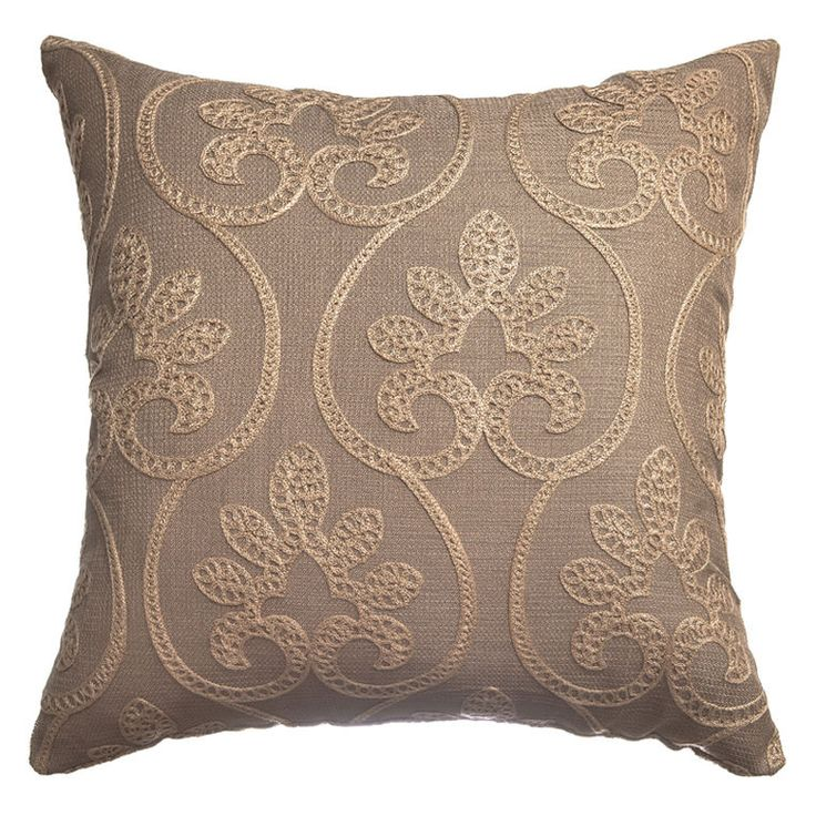 Decorative Pillows Pinterest : Add a touch of sophistication to your home decor with this brown scroll accent pillow. Fabric ...