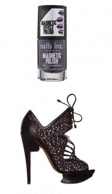 Stilettos Griffés et Ongles Pointus : une sélection de vernis high tech et de souliers d'exception à assortir ou dépareiller.