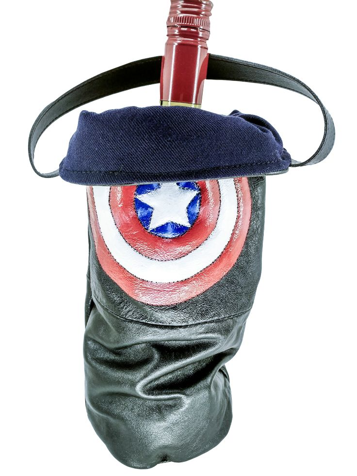Sac à vin Captain America. - Swag Bag Green