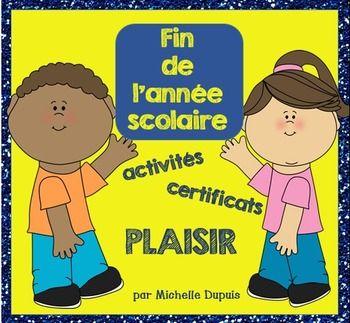 Des activités et des certificats pour la fin de l'année scolaire.