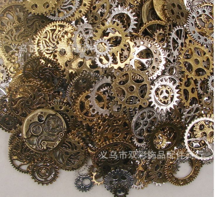 50g random Mixed Gear Charms Antique Bronze Steampunk Movement DIY Jewelry Charms