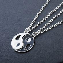 2 p yin yang pendente della collana nero bianco coppia sorella amanti amico…