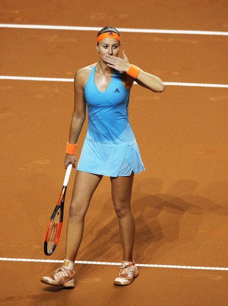 4/29/17 Kiki Advances To Stuttgart Final! Kristina Mladenovic def. Sharapova 3-6, 7-5, 6-4 to clinch her maiden Finals berth at the Porsche Tennis Grand Prix. Kiki halted Maria's run at her 1st tournament since returning from a 15 month drug ban after testing positive for Meldonium at the 2016 Australian Open.