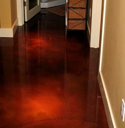 Gallery red acid stained concrete floors for Acid wash concrete floors