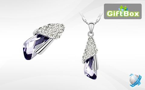 55% discount for necklace with Swarovski crystals - 10$. Find out more at http://doxbox.info/giftbox/offers/view/506/55-otstapka-za-elegantno-pozlateno-kolie-s-kristali-swarovski-i-unikalno-shlifovan-ametist/