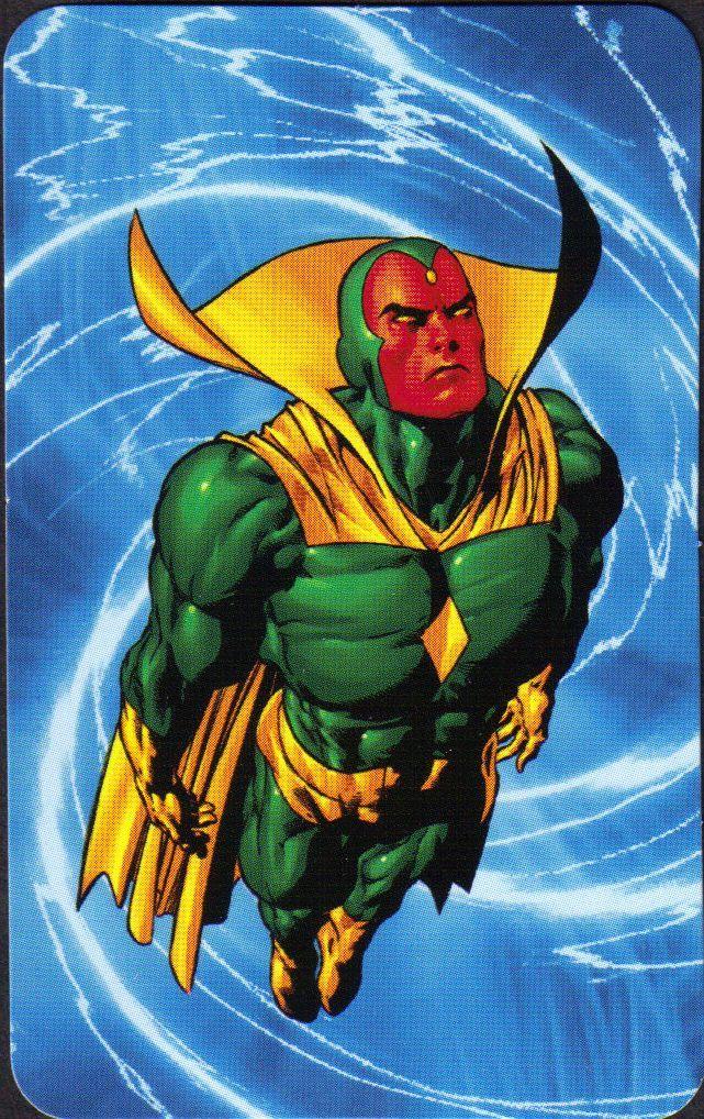 The Vision Marvel Comics   Vision - Superhuman Registration Act Card Back