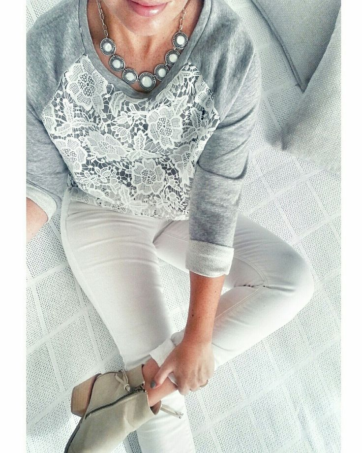 Shades of grey and lace #ellebellewears
