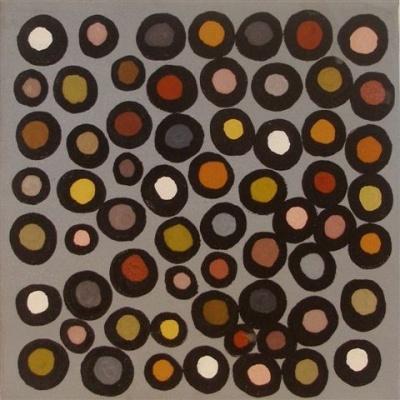 Phyllis Ningarmara / Untitled 2009 Natural ochre on canvas  25 x 25cm…
