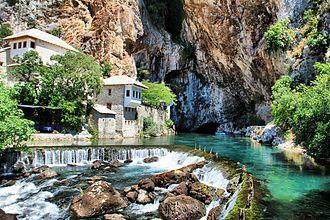 Blagaj village-town (kasaba) in the south-eastern region of the Mostar basin.