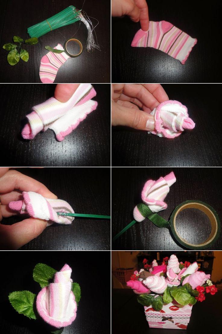 DIY Baby Shower Flower Bouquet