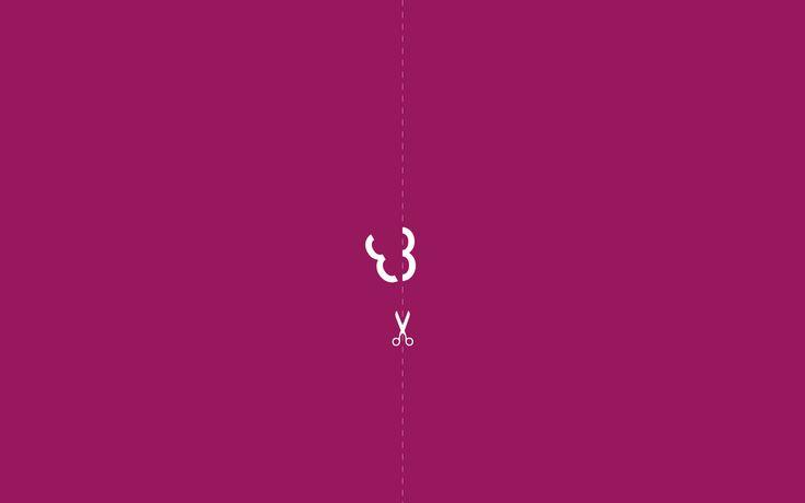 divided minimalist wallpaper violet