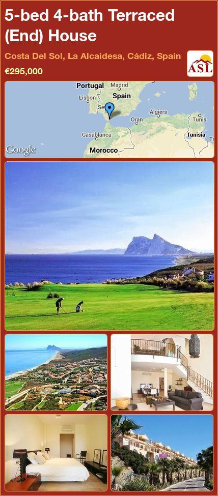 5-bed 4-bath Terraced (End) House in Costa Del Sol, La Alcaidesa, Cádiz, Spain ►€295,000 #PropertyForSaleInSpain