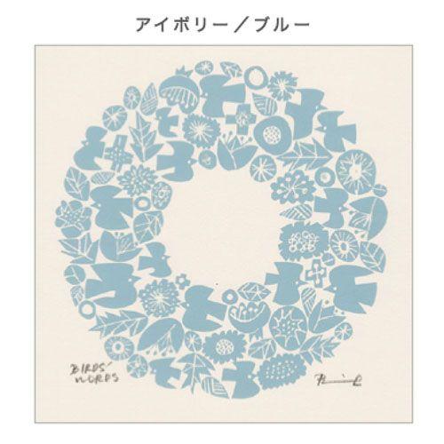BIRDS' WORDS バーズワーズ/「graphic wreath グラフィックリース」ドローイングポスターNEW(3色)
