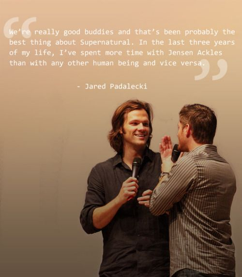 <3 Their friendship is what makes the show so great to watch. #JensenAckles & #JaredPadalecki