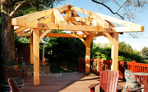 Timber gazebo installation