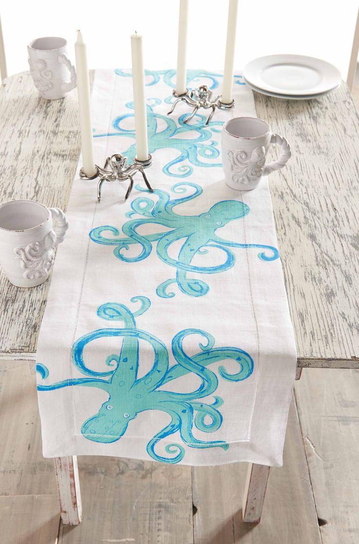 Octopus Linen Runner