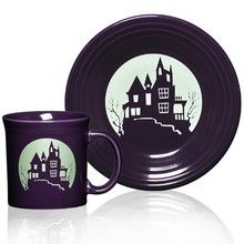 Fiesta® Halloween Spooky Haunted House Tableware  Luncheon size plate only