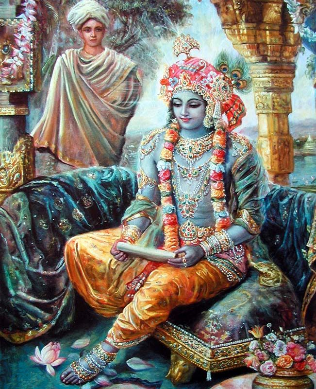 Lord Krishna, the super soul, knows everything in everyone's heart. He knows everyone's determination and everyone's wants.
