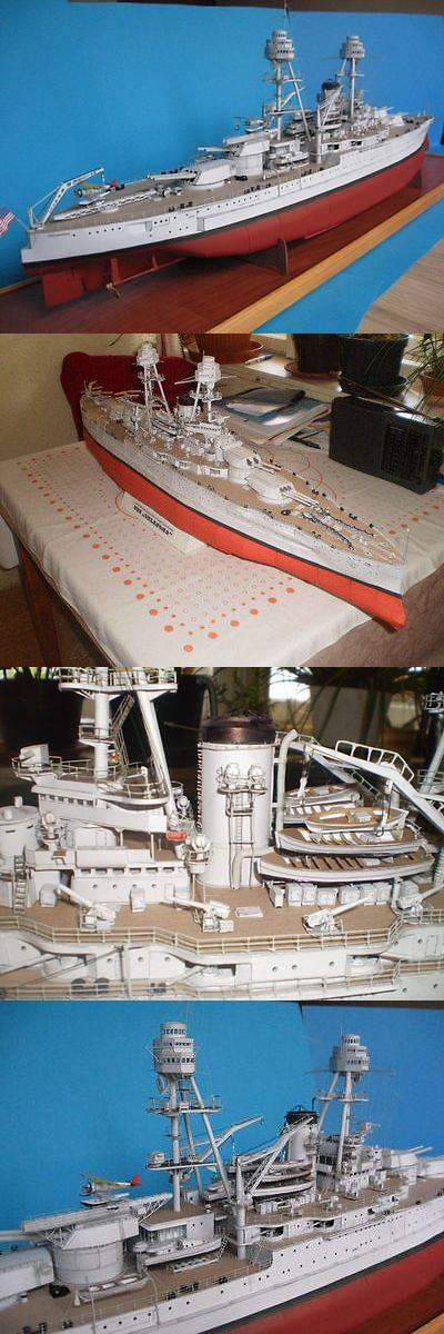 Other Boat Ship Models and Kits 4248: Modelik 29 10 - Us Battleship Uss Oklahoma (1930) Scala 1:200 With Lasercut -> BUY IT NOW ONLY: $56 on eBay!